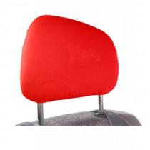Bavlnené poťahy opierky hlavy červené 2ks