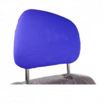Bavlnené poťahy opierky hlavy modré 2ks