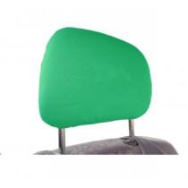 Bavlnené poťahy opierky hlavy slabo zelené 2ks
