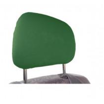 Bavlnené poťahy opierky hlavy tmavo zelené 2ks