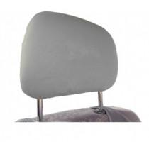 Bavlnené poťahy opierky hlavy slabo sivé 2ks