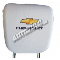 Poťah na hlavovú opierku-biela Chevrolet 2 ks
