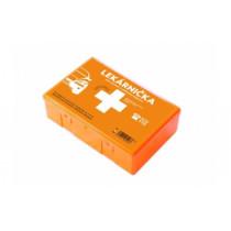 Autolekárnička v plastovej krabici + karta prvej pomoci