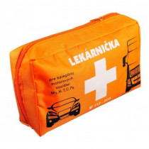 Autolekárnička v textilnom obale + karta prvej pomoci