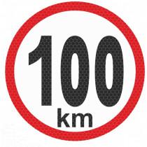 Samolepka reflexná malá - 100km