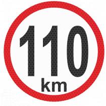Samolepka reflexná malá - 110km