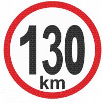 Samolepka reflexná malá - 130km