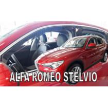 Deflektory ALFA ROMEO Stelvio 5D (+zadné) (od 2017)