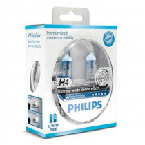 Žiarovky Philips H4 12V sada White Vision+W5W 2ks