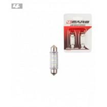 Led žiarovky 6led 12V SV8,5 39mm biela (2ks)
