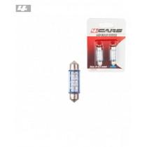 Led žiarovky 6led 12V SV8,5 39mm modrá (2ks)