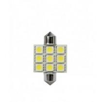 Led žiarovky 9led 12V FESTOON 5050SMD T11x36mm (2ks)
