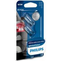 Žiarovky Philips W5W 12V WhiteVision blister twin-farba-extra biela 2ks