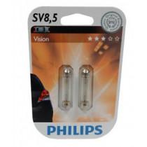Žiarovky Philips C10W 12V / SV8,5 2ks