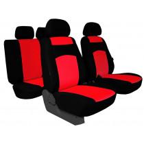 Autopoťahy Classic plus červeno-čierne (frote-textil)