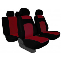 Autopoťahy Classic plus bordovo-čierne (frote-textil)