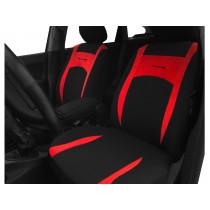 Autopoťahy Design červeno-čierne (velour-textil)