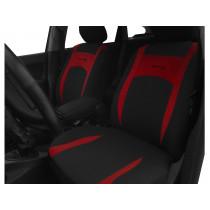 Autopoťahy Design bordovo-čierne (velour-textil)