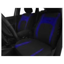 Autopoťahy Design modro-čierne (velour-textil)