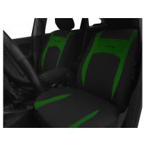 Autopoťahy Design zeleno-čierne (velour-textil)