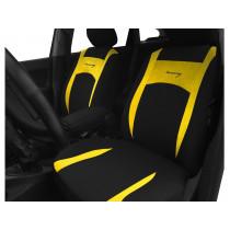 Autopoťahy Design žlto-čierne (velour-textil)