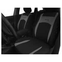 Autopoťahy Design sivo-čierne (velour-textil)