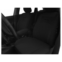Autopoťahy Design čierno-čierne (velour-textil)