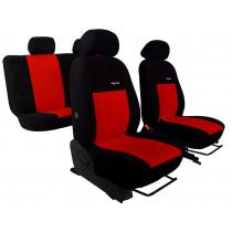Autopoťahy Elegance červeno-čierne (velour-velour)