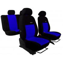 Autopoťahy Elegance modro-čierne (velour-velour)