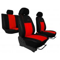 Autopoťahy Exclusive Alcantara tehlovo červeno-čierne (Alcantara-koža)