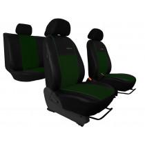 Autopoťahy Exclusive Alcantara zeleno-čierne (Alcantara-koža)