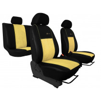 Autopoťahy Exclusive Alcantara béžovo-čierne (Alcantara-koža)