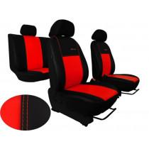 Autopoťahy Exclusive Leather červeno-čierne (koža)
