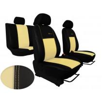 Autopoťahy Exclusive Leather béžovo-čierne (koža)