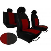 Autopoťahy Exclusive Leather bordovo-čierne (koža)
