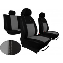 Autopoťahy Exclusive Leather sivo-čierne (koža)