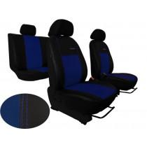 Autopoťahy Exclusive Leather modro-čierne (koža)