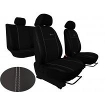 Autopoťahy Exclusive Leather čierno-čierne (koža)