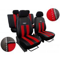 Autopoťahy GT červeno-čierne (Alcantara-koža)