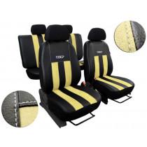 Autopoťahy GT béžovo-čierne (Alcantara-koža)