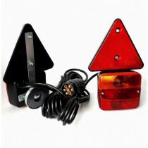 Svetlá na prívesný vozík magnetické+kábel