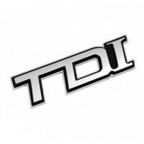 """3D nálepka """"TDI"""" chromovo-čierna"""