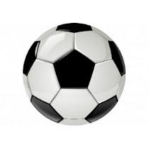 Samolepky živicové 3D Futbal (lopta) 4ks