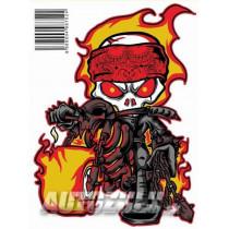 """Samolepka """"Motorka v plameni"""""""