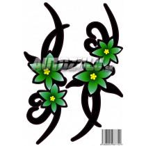 Samolepka kvet zelený 2ks