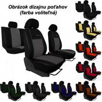 Poťahy pre AUDI A1 SPORTBACK 5D (od 2011) Exclusive Alcantara (Alcantara-koža)