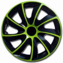 Puklice 14 palcové zeleno-čierne