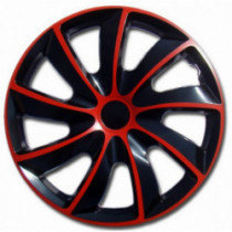 Puklice 15 palcové červeno-čierne