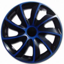 Puklice 15 palcové modro-čierne