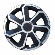 Puklice 16 MTX palcové strieborno-čierne